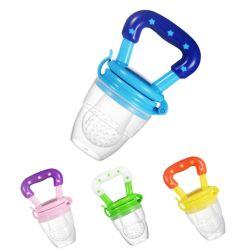 제조자는 유아 청과 과일 보조 바이트 행복한 실리콘 바이트 부대 아기 공급 칼붙이를 지시한다