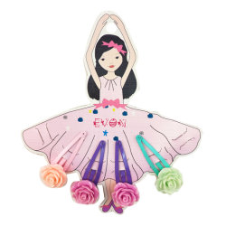 Garota de dança de flores coloridas Grampo de cabelo