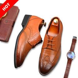 Diseño de zapatos de cuero auténtico Italia hombre Oxford hombres Zapatos de Vestir