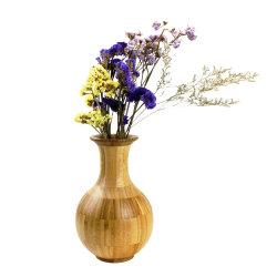 Jarrón de flores de bambú para la decoración del hogar y regalos