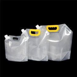 Fuite de liquide de qualité alimentaire de l'emballage preuve pochette imprimé personnalisé Stand up sacs de la tuyère 50 ml - 2100 ml entièrement en plastique transparent contenant de jus de l'eau potable