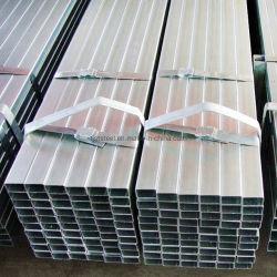 Großverkauf schweißte gefäß100x100 mm Gi-Quadrat-Stahlrohr-Gewicht der Frau-ERW mildes galvanisiertes quadratisches hohles Stahlpro Messinstrument