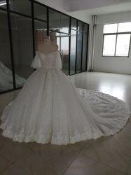 В ткани с Shinning моды кружева устраивающих платье (18602#)