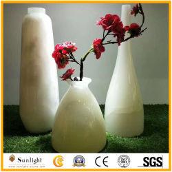 Hermoso florero de Onyx, Jarrón de piedra tallado a mano la decoración interior