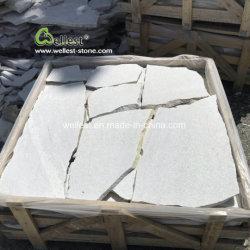Branca de Neve Quartzites Random Lajes, Papel Super Branco Pavimentadoras Louca Irregular