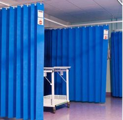Mayorista de fábrica Nonwoven Fabric Color azul para cortina Hospital desechables