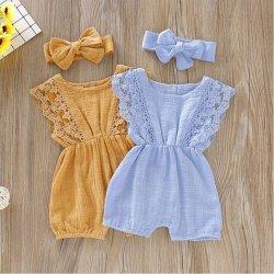 Großhandelsbaby-Spitze-Spielanzug für Babys 18 Monate Basisrecheneinheits-Baby-Luxus-Kleidung-