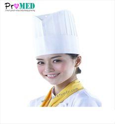 Hotel/Restaurante/cocina malla desechables de tapa, tapa de papel de forraje de la gorra, sombrero de cocinero