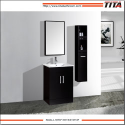 Salle de bains en bois massif de la vanité/Salle de bains Meubles/Salle de Bain lavabo armoires de base T9046
