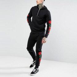 Tute sportive mezze surdimensionate del progettista del ricamo della Rosa della chiusura lampo di nuovo stile di modo per gli uomini