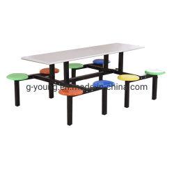 Modern School Dining Table Set의 섬유 Glass Dining Table
