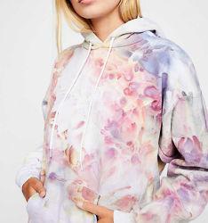 Die bequemen Sweatshirts der Qualitäts-Dame-Hoodies Binden-Färben Hoodies