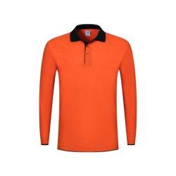 Il commercio all'ingrosso della Cina progetta camicia per il cliente di polo lunga comoda respirabile di modo del manicotto della camicia di polo di sport di stampa di sublimazione la breve