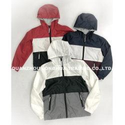 남성용 보이의 폴리에스테르 봉기 조인트 패널 리플렉티브 지퍼 풀러 방수 후디 Windbreaker 재킷