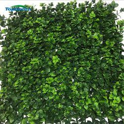 Anti-UV hojas el follaje de plantas de boj Artificial Jardín Vertical de cobertura de la pared verde