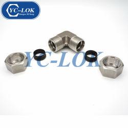 Acciaio inossidabile 304 montaggi uniti idraulici del gomito metrico per il tubo