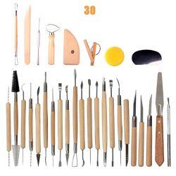 محترفة نوع خيش حقيبة تعليب [14بكس] فنّ نحت خزفيّة خشبيّة ومعدن فخار طين أدوات مجموعة
