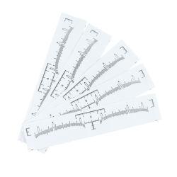 مستهلكة حالب مسطرة لاصق دائم بنية [ميكروبلدينغ] إجراء أداة لأنّ حالب وشم تصميم