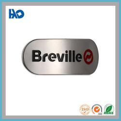 Logotipo pintado personalizado de alto brillo de la etiqueta el logotipo de metal de aluminio Autoadhesiva insignia de impresión
