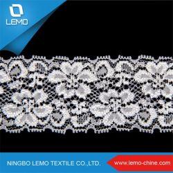 Merletto elastico di lavoro a maglia del tricot dello Spandex di nylon del filo di ordito del jacquard di Raschel