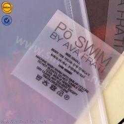 Contrassegno stampato marchio nero di scambio di calore del bikini di Sinicline per Swimwear