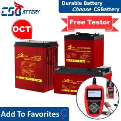 Csbattery 6V 200Ah/225Ah/310Ah/380Ah/420Ah Lead-Acid Valve-Regulated-selado para bateria solar/Power-Tool/Electric-Scooter/aluguer/Veículo/Pack/Trojan/CSG