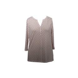 Женщин вискоза эластан верхней части втулки 3/4 рубашку в горловину блуза подходящую одежду