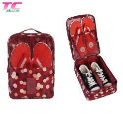 Novo design do saco de viagem Organizador de poliéster Saco de sapata de pó com pega