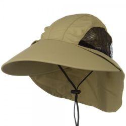 Draußen große geströmte fischenhütesun-UVschutz-Wannen-Hut-Abdeckstreifen-Schutzkappe