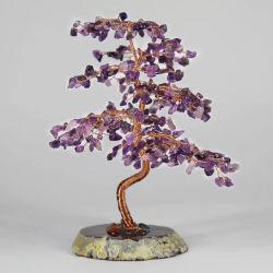 자연적인 분류한 혼합 마노 디자인 원석 나무 철사에 의하여 감싸인 결정은 나무를 잘게 썬다