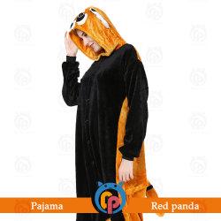 De rode Kostuums van Cosplay van de Feestneus van Kigurumi Pasen Halloween van de Panda voor Volwassene