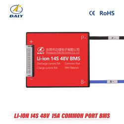 Scheda astuta di protezione di Daly 14s BMS 15A 25A 35A 45A 60A 48V BMS per 14 il modulo delle cellule di batteria di Lipo del litio dello Li-ione del pacchetto 18650 con la funzione dell'equilibrio
