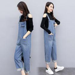 Jeans mulheres Suspensórios Custom-Made grossista de material de embalagem de trabalho