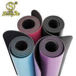 Mat van de Yoga van het Natuurlijke Rubber van de Oefening de Milieuvriendelijke AntislipPu van de Manier van de geschiktheid