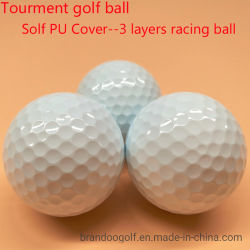 3-слои Solf PU охватывают большие расстояния Tourment мяч для гольфа