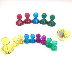 Привлекательные цветные акриловые магнитных вытолкните штифты, неодимовые магниты штифта