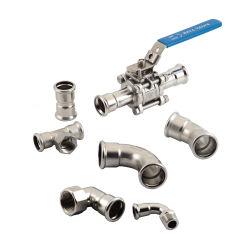 En acier inoxydable Appuyez sur le raccord de tuyau en cuivre
