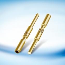 Plugue de fone de ouvido 0,78 Gold-Plated Agulha de cobre do fio