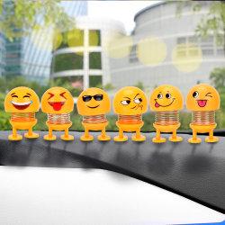 차는 맨 위 인형 자동차 대쉬보드 훈장 창조적인 미소짓는 귀여운 수줍어한 표정 장식 장난감 Le246를 동요하는 아BS 재미있은 Emoji를 장식한다