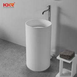 الحمام الحجر الصناعي ريزين أكريليك سطح صلب قاعدة امتصاص مستقلة حوض الغسيل اليدوي