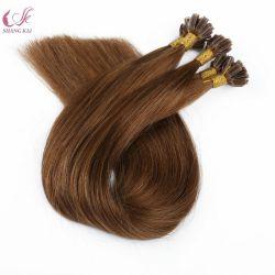 L'estensione all'ingrosso Remy brasiliano U diritto dei capelli di punta del chiodo U capovolge le estensioni dei capelli