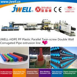 Jwell-HDPE|Twin-Screw parallèle en plastique PP Paroi double tuyau ondulé le recyclage de décisions de la machinerie d'Extrusion