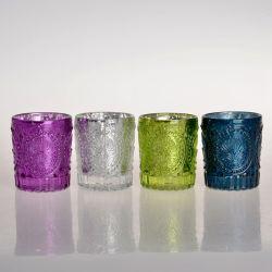 Supporti di candela di vetro del vaso libero all'ingrosso della candela con il coperchio per la fabbricazione della candela