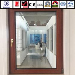 La aleación de aluminio doble acristalamiento gire a la inclinación de la ventana interior de metal