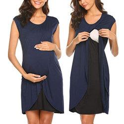Les femmes en couches 3en1 professionnel en soins infirmiers avant d'enrubannage asymétrique de la grossesse robe de maternité
