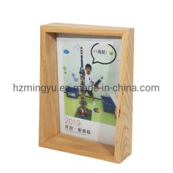 Gama alta, creativas y simples de madera sólido marco de fotos con efecto de cuadro de irregulares