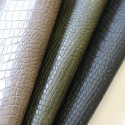 Grãos de crocodilo PU Emboss Crocodilo em couro sintético couro artificial em relevo sintético para sacos de sofá cadeiras ou calçado