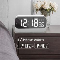 LED 디지털 자명종 발광 다이오드 표시 자명종 전기 밤 빛 책상 배경 테이블 시계