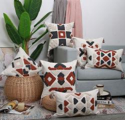 Tampa de almofadas de decoração 30x50cm/45cmx45cm capa do assento Tassles Estilo Boho Gemometric étnicas bordados almofada para quarto com sala de estar