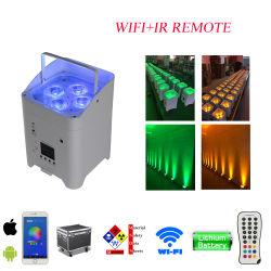 6*18W RGBWA liberdade UV WiFi da bateria do controlador remoto de infravermelhos sem fios opcional par Discoteca luzes LED Mini PAR Uplight